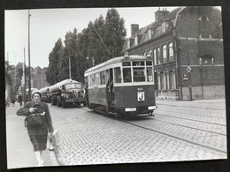 Photographie Originale De J.BAZIN : Tramways De LILLE (C.G.I.T./T.E.L.B) La Madeleine (Mairie) En 1962 - Treni