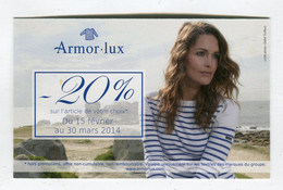 Carte De Visite °_ Carton-Armor . Lux-20 % Article Magasin-2014 - Visiting Cards
