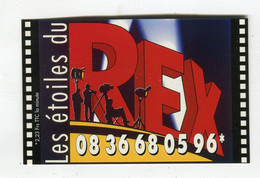 Carte De Visite °_ Carton-Cinéma-Les Etoiles Du Rex-75002 - Visiting Cards