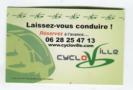 Carte De Visite °_ Carton-Cycloville-Laisse Vous Conduire-voir Le Site - Visiting Cards