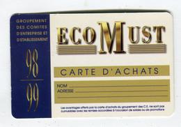 Carte De Visite °_ Carton-Ecomust-Carte D'achat-Toulouse-98.99 - Visiting Cards