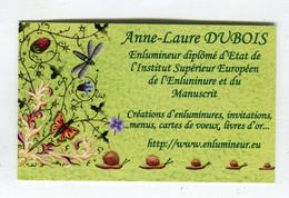 Carte De Visite °_ Carton-Enlumineur D.E-Anne.Laure-49 Trélazé - Visiting Cards