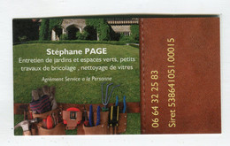 Carte De Visite °_ Carton-Entretien Jardins-Stéphane-Service à La Personne- 06 - Visiting Cards