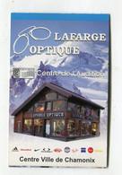 Carte De Visite °_ Carton-Lafarge Optique-Centre D'audition-74 Chamonix - Visiting Cards