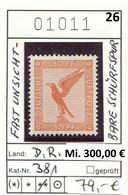 Deutsches Reich 1926 - Allemagne - Michel 381  - ** Mnh Neuf Postfris - Fast Unsichtbare Schürfspur - Ongebruikt