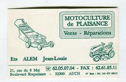 Carte De Visite °_ Carton-Motoculure De Plaisance-Alem-32 Auch - Visiting Cards