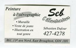 Carte De Visite °_ Carton-Peintre-Aérographie-Seb L'Illustrateur-Pays De Galles - Visiting Cards