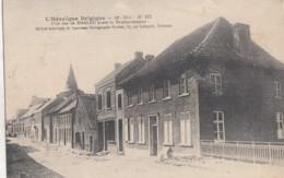 HALEN /  OORLOG 14-18 / GEBOMBARDEERDE STRAAT  1915 - Halen