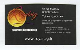 Carte De Visite °_ Carton-Royalcig-Cigarette électronique - Visiting Cards
