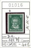 Deutsches Reich 1926 - Allemagne - Michel 389 Zahnfehler / Dent. Abimée  - ** Mnh Neuf Postfris - Ongebruikt
