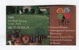 Carte De Visite °_ Carton-Seb Multi Services-32 Auch - Visiting Cards
