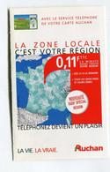 Carte De Visite °_ Carton-Service Téléphone Carte Auchan - Visiting Cards