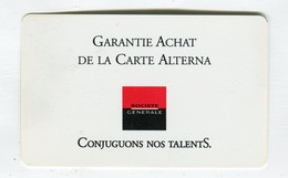 Carte De Visite °_ Carton-Société Générale-Garantie Achat Carte Alterna-76 Le Havre - Visiting Cards