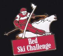 71552-Pin's-Red Ski Challenge. Signé  Arthus Bertrand Paris. - Arthus Bertrand