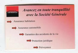 Carte De Visite °_ Carton-Société Générale-On Est Là Pour Vous Aider - Visiting Cards