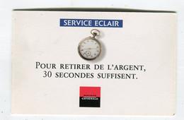 Carte De Visite °_ Carton-Société Générale-Service Eclair Retraits-1997 - Visiting Cards