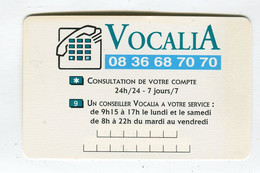 Carte De Visite °_ Carton-Société Générale-Vocalia-Consultation De Compte - Visiting Cards