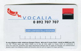 Carte De Visite °_ Carton-Société Générale-Vocalia-Consultation De Compte-2001 - Visiting Cards