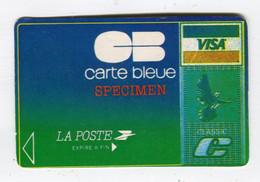 Carte De Visite °_ Carton-Specimen Bancaire-CB Bleue Visa-La Poste - Visiting Cards