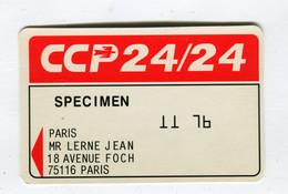 Carte De Visite °_ Carton-Specimen Bancaire-CCP24.24-Lerne-11 76 - Visiting Cards