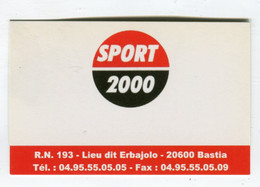 Carte De Visite °_ Carton-Sport 2000-Erbajolo-20 Bastia - Visiting Cards