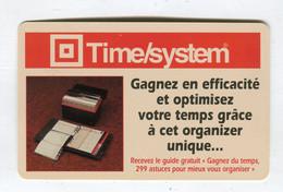 Carte De Visite °_ Carton-Time System-Organizer Unique-Gestion Du Temps - Visiting Cards
