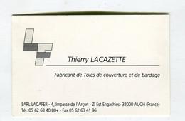 Carte De Visite °_ Carton-Tôles De Couverture Et Bardages-Thierry-32 Auch - Visiting Cards