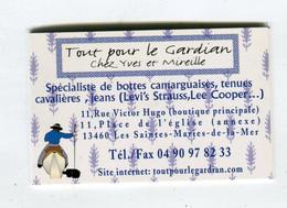 Carte De Visite °_ Carton-Tout Pour Le Gardian-Yves & Mireille-13 Stes.Maries De La Mer - Visiting Cards