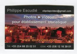 Carte De Visite °_ Carton-Touvideo.com-Philippe-Vidéo;Photo-11 Carcassonne - Visiting Cards