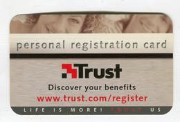 Carte De Visite °_ Carton-Trust-Personal Registration Card-US - Visiting Cards