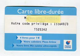 Carte De Visite °_ Plastique-France Loisirs-Libre Durée-155649 - Visiting Cards