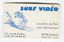 Carte De Visite °_ Plastique-Femme Surf Vidéo-2000-92 Suresnes - Visiting Cards