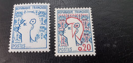 FRANCE 1282 VARIETES  NEUFS XX.SUPERBES.¹ - Curiosa: 1960-69 Postfris