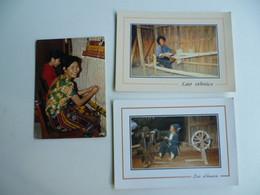Lot De 3 Cartes Postales Asie / Laos - Laos