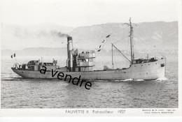 FAUVETTE II, Patrouilleur  1927 - Warships