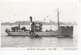 FAUVETTE , Patrouilleur  30-5-1928 - Warships