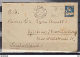 Brief Van Luzern 2 Briefversand Naar Gustrow (Duitsland) - Briefe U. Dokumente