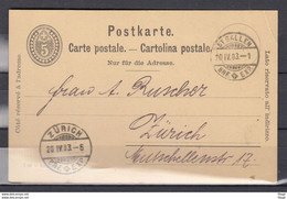 Postkaart Van St Gallen Naar Zurich - Briefe U. Dokumente