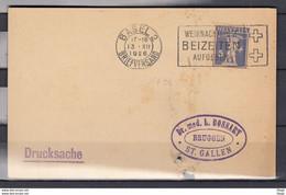 Kaart Van Basel 2 Briefversand Naar St Gallen Weihnachtspost Beizeiten Aufgeben - Briefe U. Dokumente