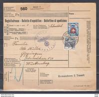 Censuur Bulletin D'Expedition Van Zurich Naar Wittenberg - Briefe U. Dokumente