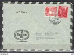 Brief Van Basel 2 Briefversand Naar Winston Salem USA - Briefe U. Dokumente