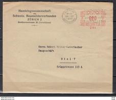 Brief Van Zurich 1 Briefversand Naar Biel 7 - Briefe U. Dokumente