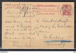 Postkaart Van Oberhofen B/Thun Naar Duitsland - Briefe U. Dokumente