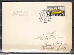 Kaart Van Schweiz Automobil Postbureau Naar Lenzburg - Briefe U. Dokumente