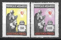 Moçambique 1974 - Assistência - Imposto Postal E Telegráfico - Afinsa 75 E 76 Set Completo - Mosambik