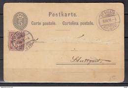 Postkaart Van St Gallen Naar Suttgart - Briefe U. Dokumente