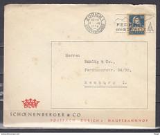 Brief Van Zurich 1 Briefversand Naar Hamburg Ferien Der Schweiz - Briefe U. Dokumente