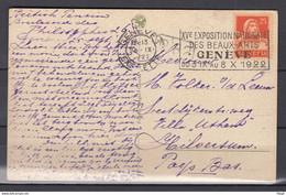 Postkaart Van Geneve 1 Exp Lettres Naar Hilversum Exposition Nationale Des Beaux-Arts Geneve - Briefe U. Dokumente