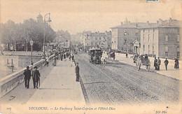 31 - TOULOUSE Boulevard De Strasbourg ( Tramways Hippomobiles Animation Attelages Pub BYRRH ) CPA - Haute Garonne - Toulouse