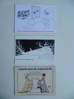 Lot De 3 Cartes Postales /  Marianne , Illustrations De Jacques Faizant - Faizant
